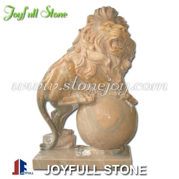 Marmeren leeuw beeldhouwkunst, grote tuin marmeren beelden leeuw te koop standbeelden product ID