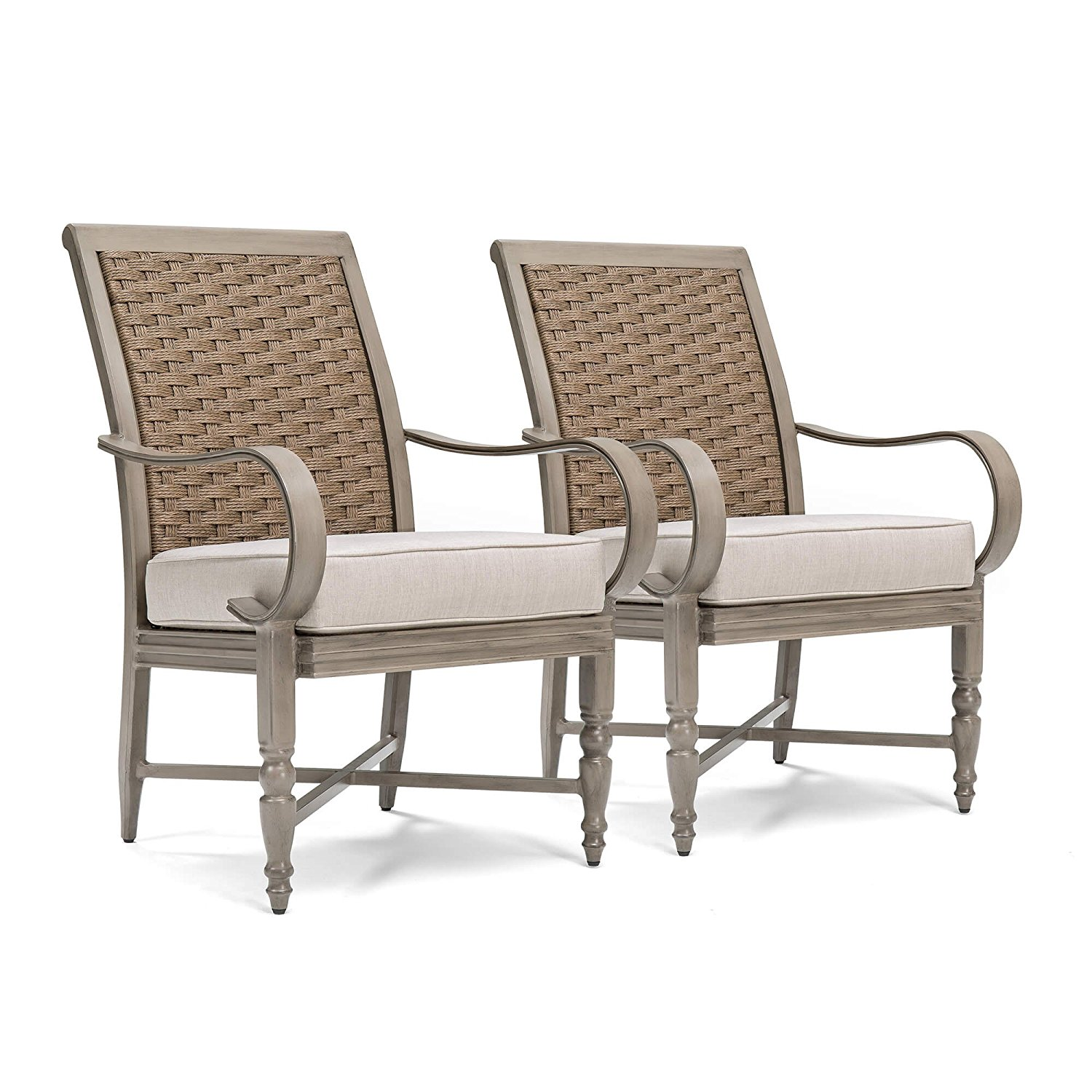 Blue Oak Outdoor Saylor Patio Furniture 2pk Stationary Dining Chair Set