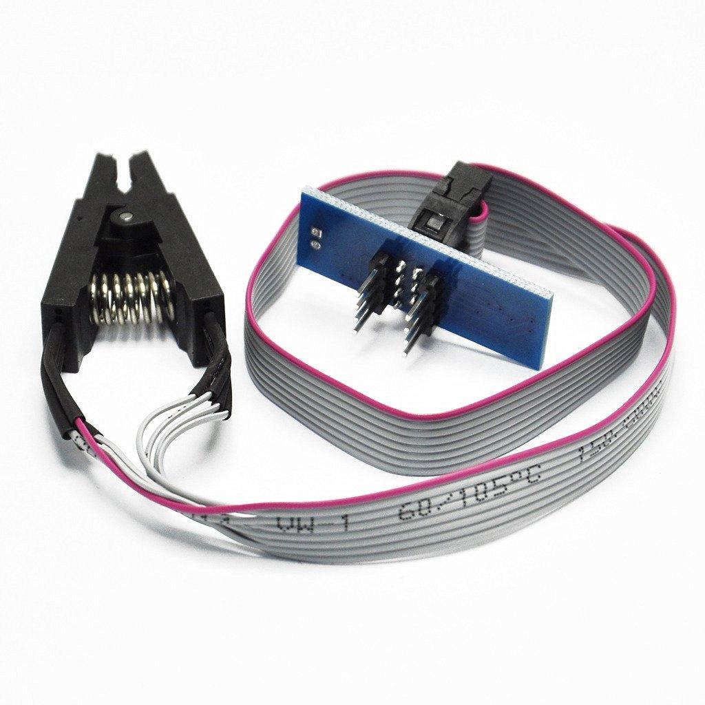 Soic8 Sop8 Flash Chip Ic Test Clips Socket Adpter Bios//24//25//93 Programmer NEW