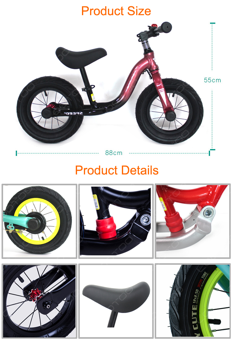 Aluminum frame CE mini balance bike child riding for kindergarten 1 4 year old baby