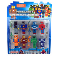 8 PCS lot Minecraft Game Brinquedo Toys Avengers Super Hero Justice League Building Blocks Toys Action
