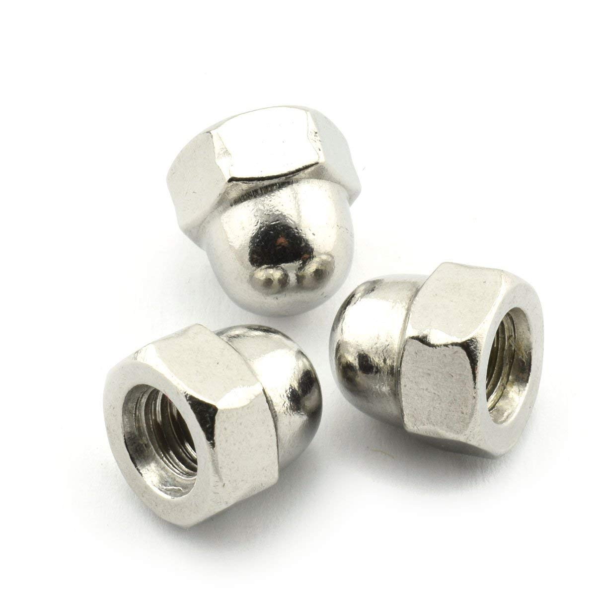 20pcs 1/4-20 Hex Acorn Nuts 304 Stainless Steel Hexagon Decorative Cap Nut Acorn Dome Head Nuts for Screws Bolts