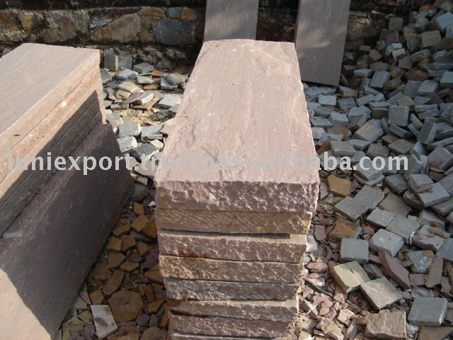 Sandstone Wall Caps,Pavers,Sandstone kerbs,Sandstone Steps and Indian Paving Material