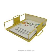 Stackabel file holder wire mesh, A4 paper file tray holder