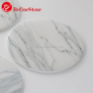 Different shape custom marble coaster with engraved logo