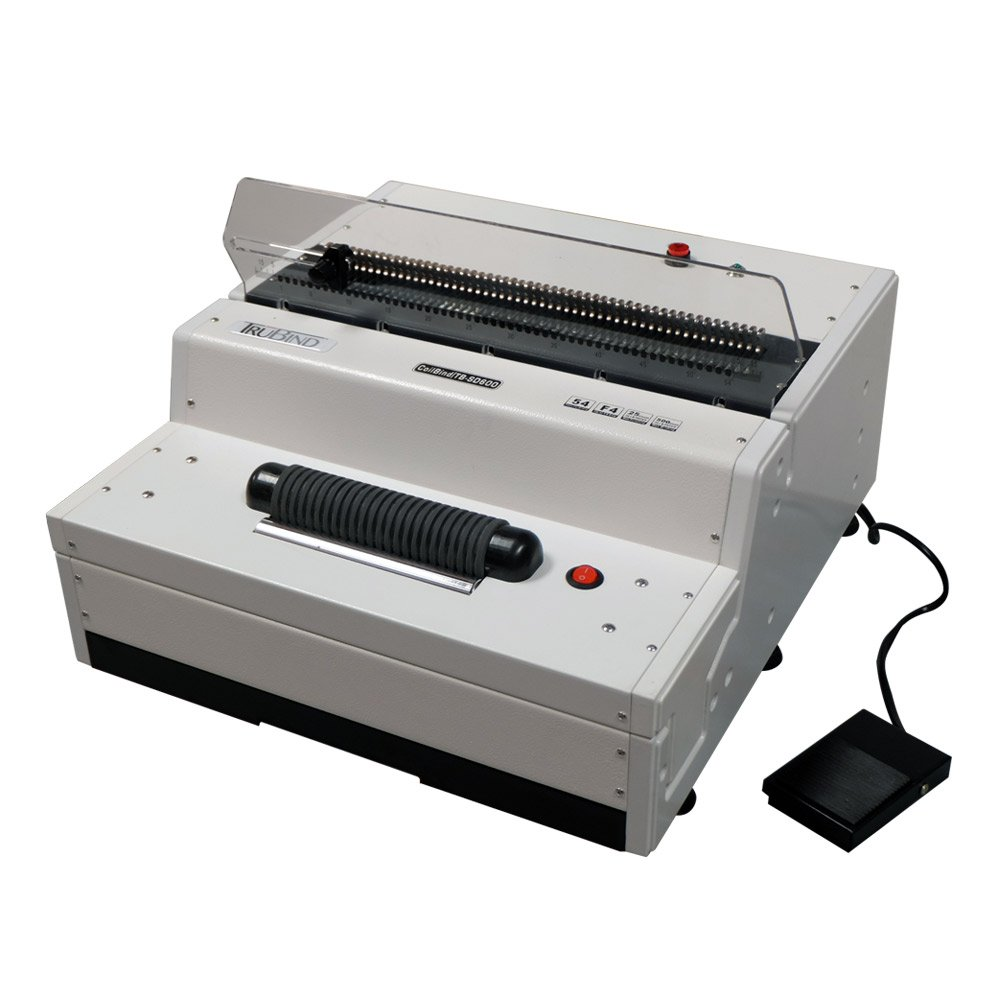 TruBind Heavy Duty Electric Coil Binding Machine with Coil Inserter (TB-SD600)