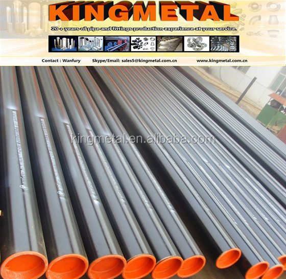 API spec 5L Seamless carbon steel pipes / tubes for conveying gas,water and petroleum .