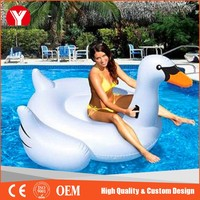 hottest summer water floats PVC inflatable black swan swimming pool