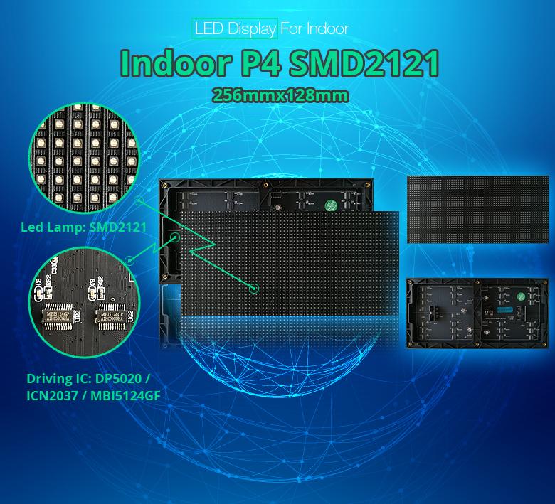 Hohe qualität p4 smd2121 led display panels/led-anzeige bildschirme/led-anzeige schrank