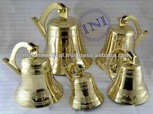 Brass Nautical Ship Bells Group, Nautical Antique Brass Ship Bell, Smart Marine Ship Bell