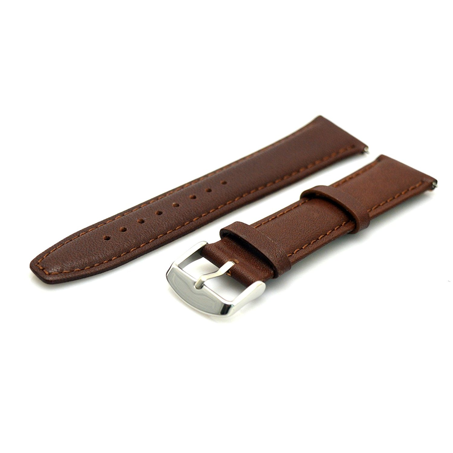 MOTO 360 2nd Gen 42mm Leather Watch Band, VONOTO Coffee 20mm Universal Genuine Leather Smart Watch Replacement Bands for MOTO 360 II 2nd Gen 42mm,Samsung Gear S2 Classic Smart Watch (Coffee)