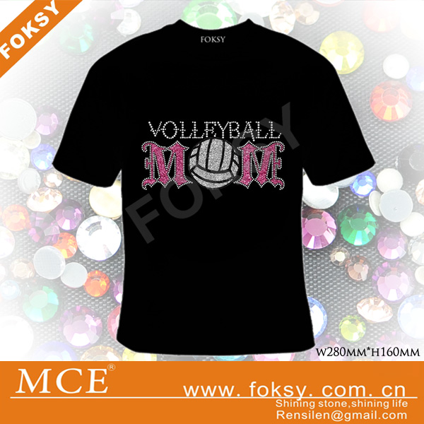 volleyball rhinestone motif,volleyball mom iron on transfer