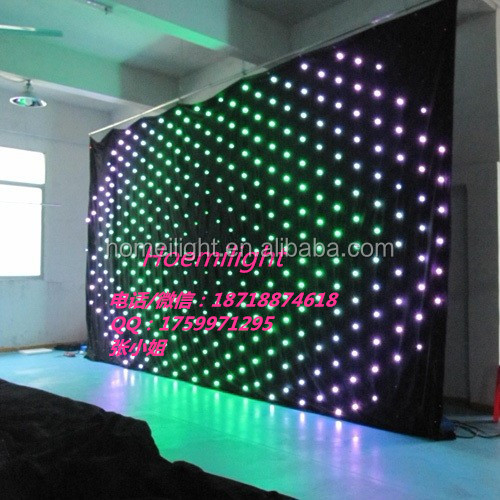 P20CM led video curtain ,led vision curtain <strong>RGB</strong>, software led curtain for Dj Booth Matrix