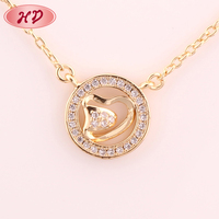 New arrival fashion jewelry gold plated new design gold pendant