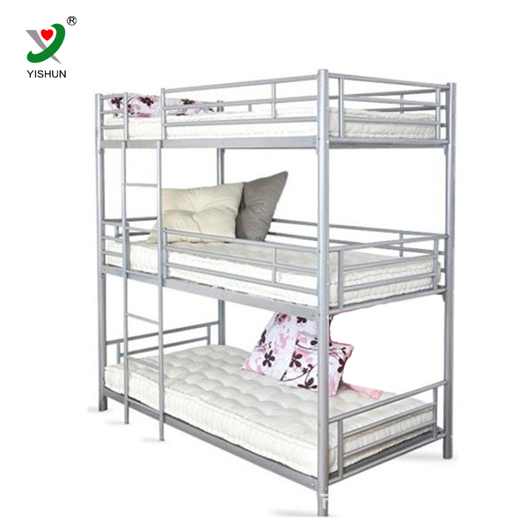 3 Tier Triple Metal Bunk Bed Three Adult Bunk Bed Buy Metal Tube