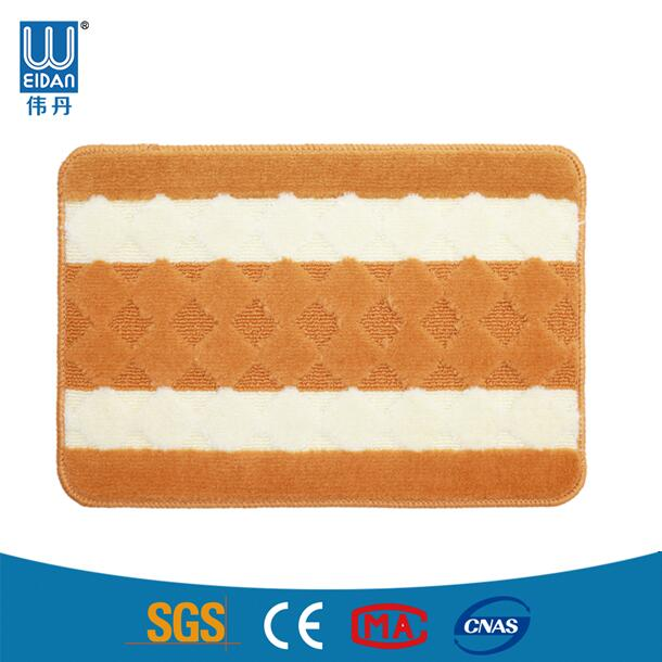 Latex backing PP jacquard decorative kitchen floor mats