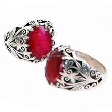 gothic ruby engagement ring
