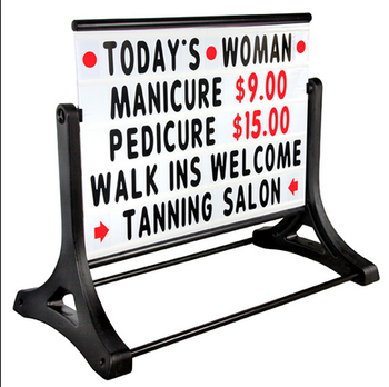 "Eye-catching Design Message Board Signs ""A"" Frame Sidewalk Signs"