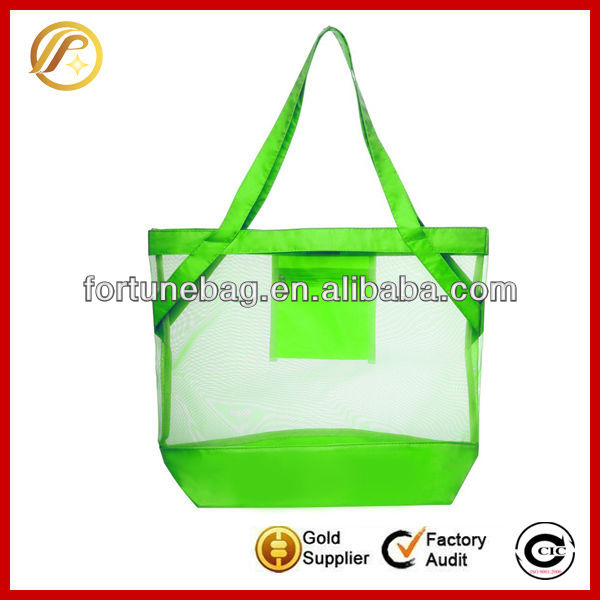 Clear pvc shopping handle bag tote bag