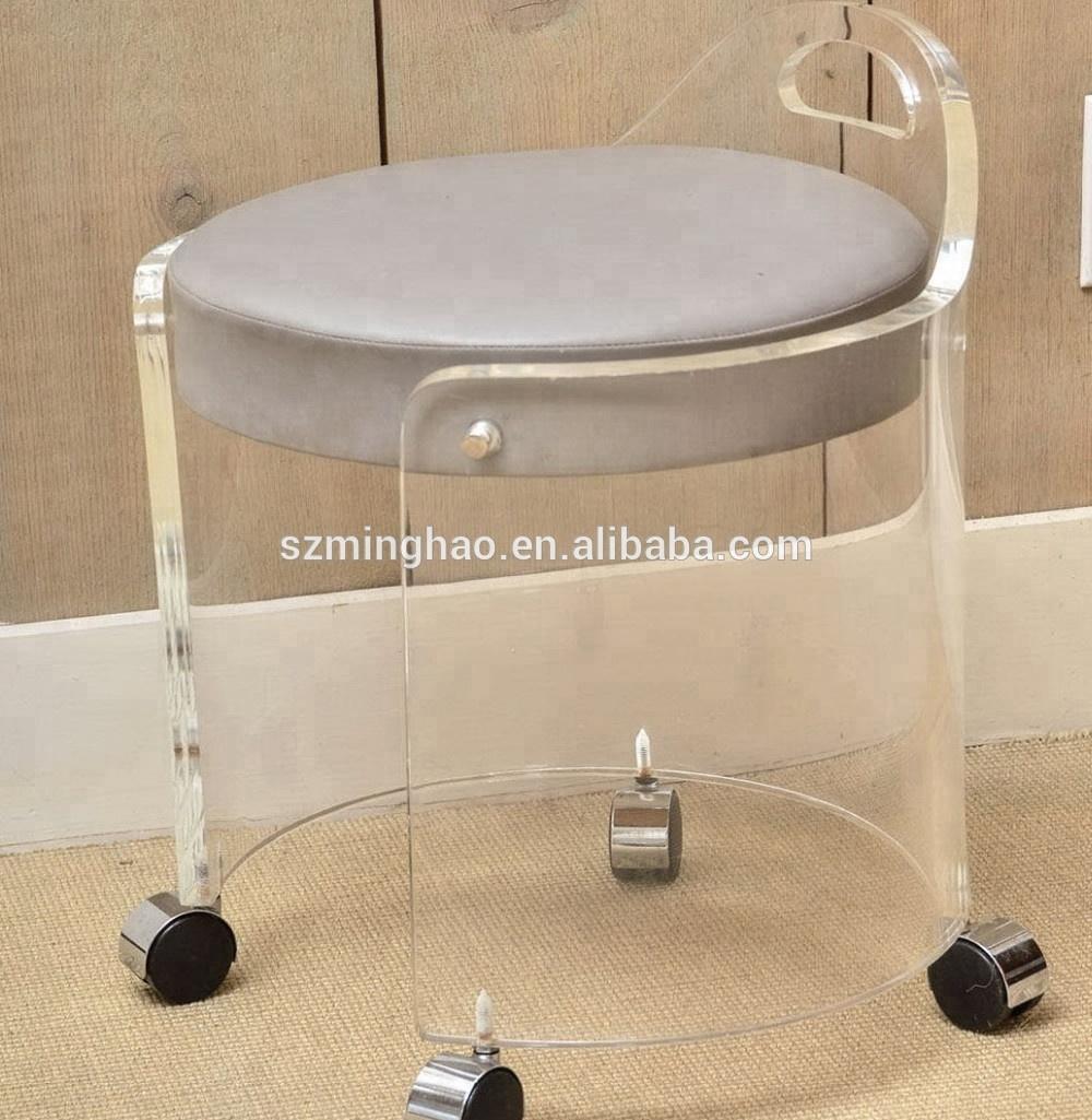 Image of: Clear Acrylic Vanity Stools Acrylic Living Chairs Buy Sillas De Acrilico Taburete Claro Silla De Ruedas Product On Alibaba Com