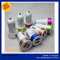 KLT-2-in-1 Dual Port USB Car Charger + Home Wall AC Chargers Travel Power Adapter for iPhone
