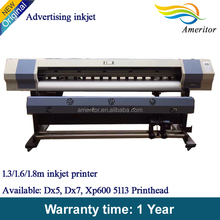 Advertisement printing machine for outdoor imported liner rail guider fast printing speed pvc banner printer