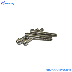 Factory Supply DIN912 6AL4V Gr5 M5x16mm 18mm & M6x35mm 40mm Titanium Socket Tapered Hex Allen Conical Bolts