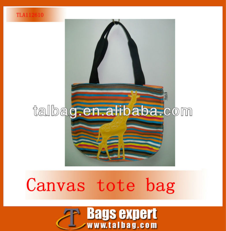 cheap but charming giraffe tote bag for office ladies