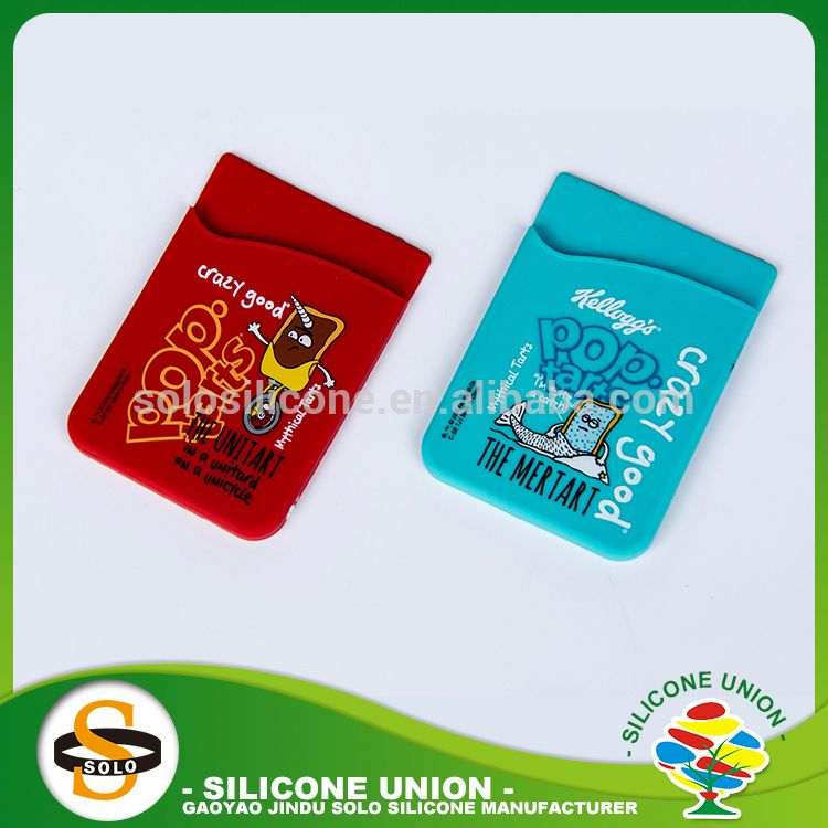 Fine workmanship ultrathin solid color silicone phone card holder