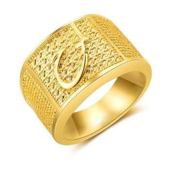 AP20694 Custom wholesale fashion allah muslim men Scripture ring Drop shipping