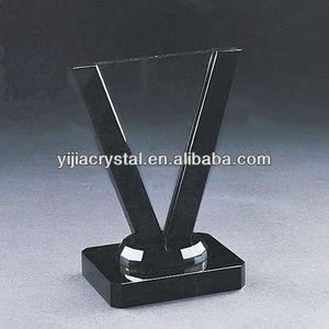 cheap fashion crystal blank award trophy 3D laser engraving