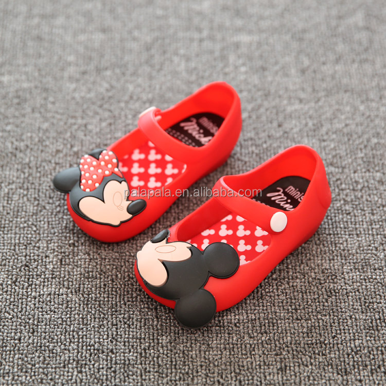 Mini Melissa 3 Color Mickey kid Girl Sandals Non-slip Girl Shoes Cheap Sandals For Kids Jelly Sandals Melissa Shoes High Quality