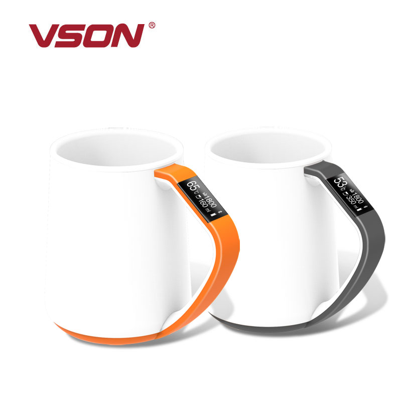 Hot bluetooth smart cup met IOS/Android App en OLED Indicator WP2860 bluetooth cups