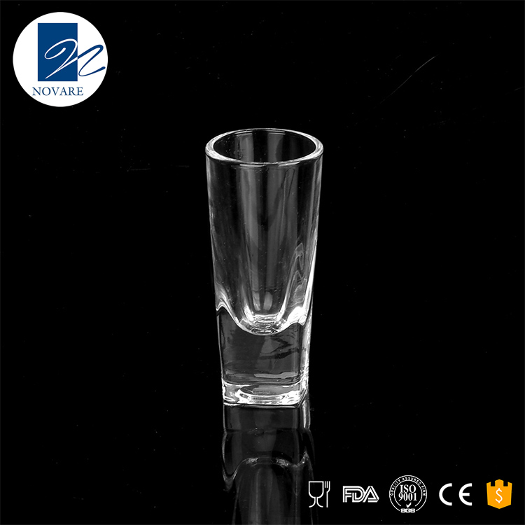 60ml clear tequila thick bottom shot glass