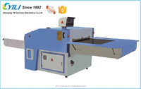Continuous cap material/clothes fusing machine, leather gluing machine for apparel and textile finishing