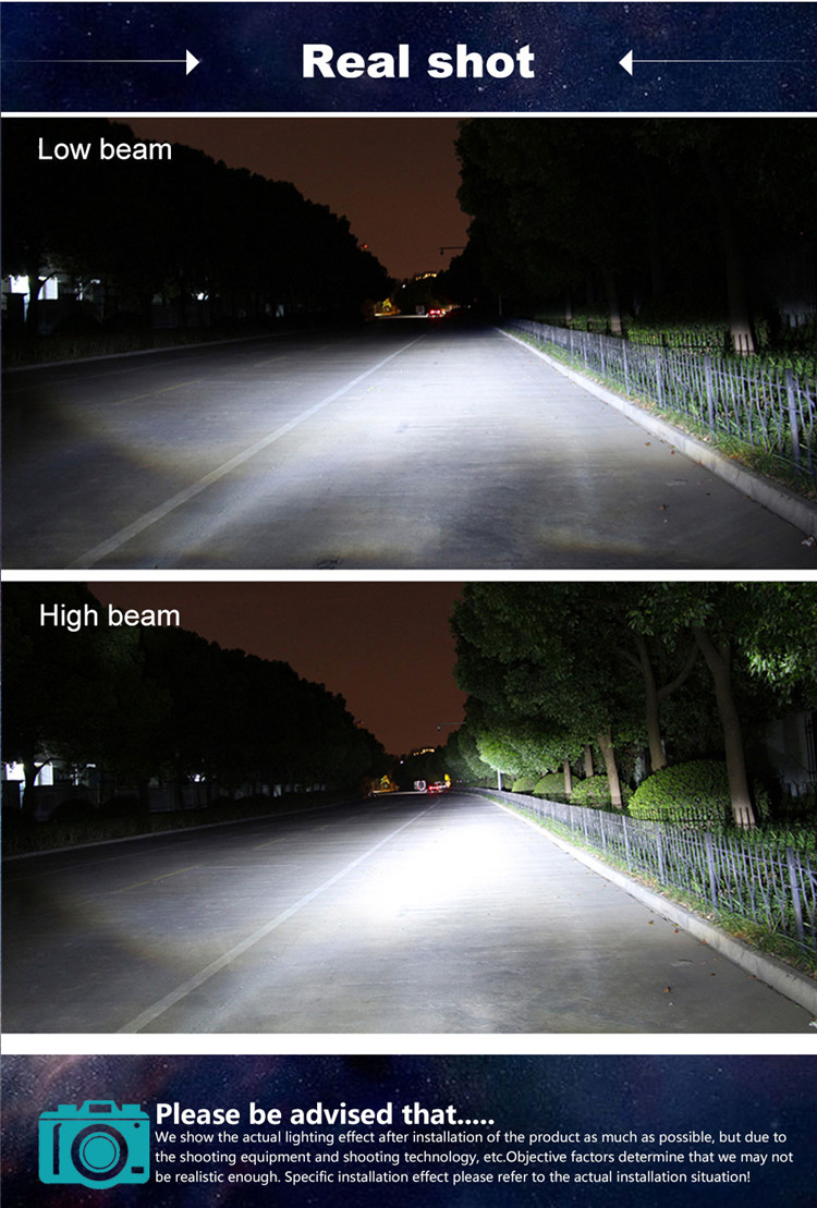 New arrival led headlight S7 car bulb h4 h7 9005 9006 hight power super bright car light with strong canbus driver