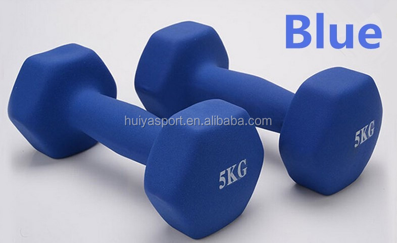 home exercise hand Weights Vinyl dipping Dumbells Set