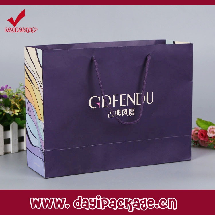 Made in China custom gift paper bag making by hand