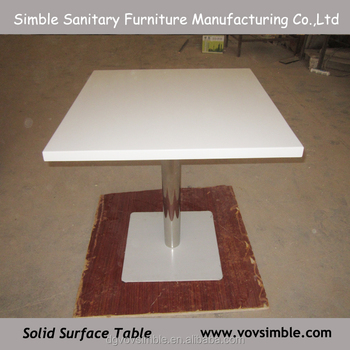 Acrylic Stone Restaurant Dining Table Made In Malaysia