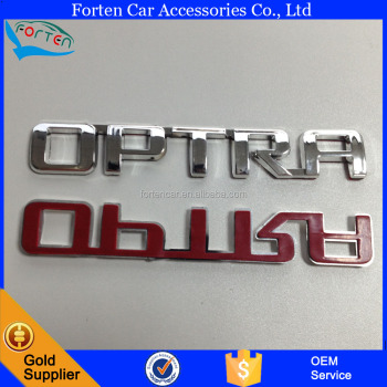 Custom chrome optra car rear decal lettering sticker badge emblem