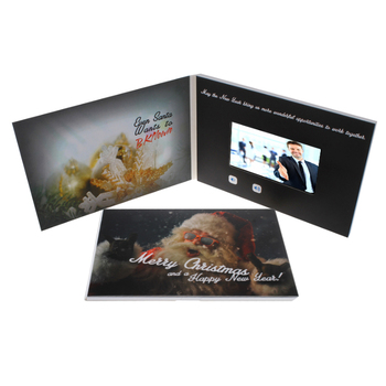 Best Selling Customized Lcd Video Christmas Brochure Card