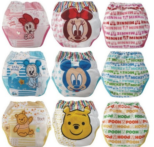27pcs lot Waterproof baby toilet training pant potty training pants Mickey Minnie underwear infant panties