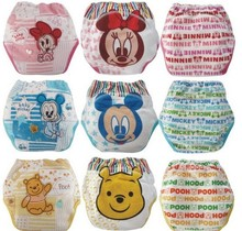 27pcs/lot Waterproof baby toilet training pant potty training pants Mickey&Minnie underwear infant panties free shipping