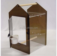 fashion Classic brown Acrylic parrot bird cage