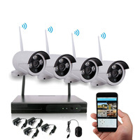 Wholesale 4CH Outdoor Waterproof 1080P Cameras Wifi CCTV Security System Wireless NVR Kit