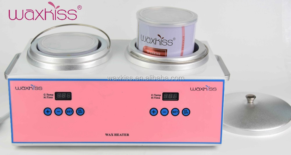 200W dual tins digital wax pot heater for paraffin spa/salon