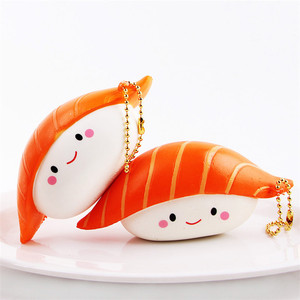 Educational Jumbo Wholesale japanese Sushi Kawaii Soft Squishy Slow Rising Toys With Various Colors For Kids Factory Direct Sale