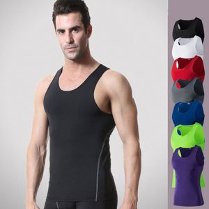 Men Quick Dry Breathable Sleeveless Polyester Running Gym Basketball Stretch Top Tank