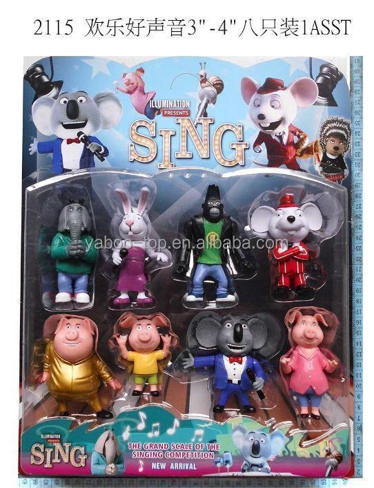 new) 8pcs 7-10cm Movie Sing Action Figure,High Quality Custom Cute ...
