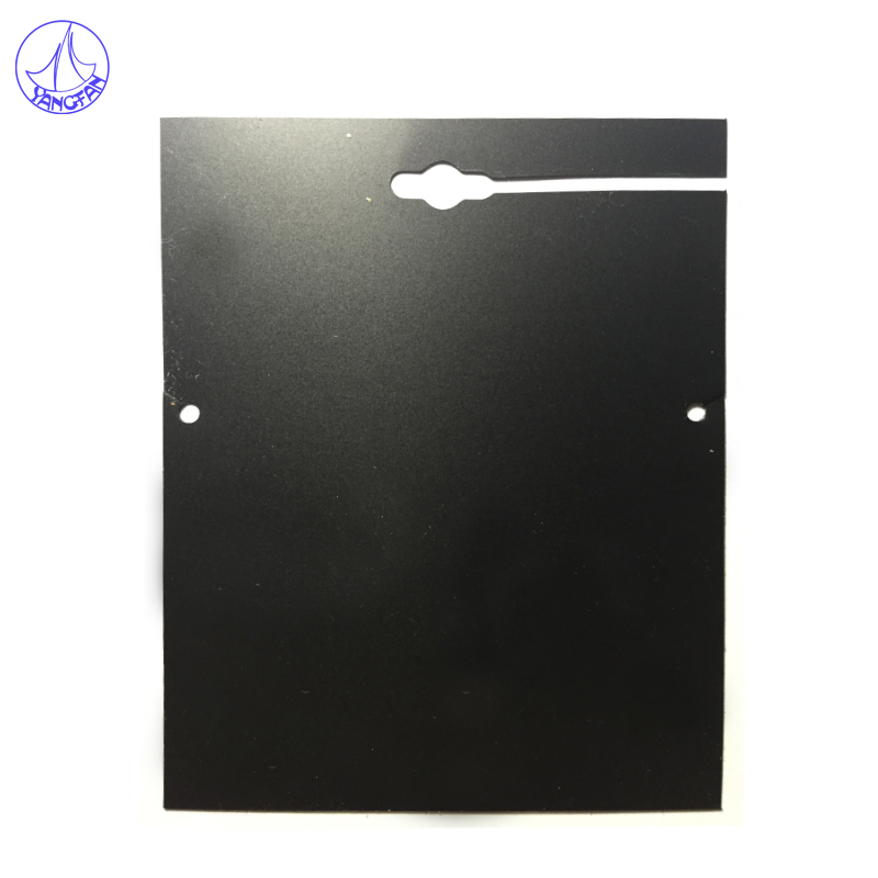 Free Shipping 100Pcs Plastic Necklace Jewelry Card Display Packing 8.5x11.6cm Black Jewelry Display Shelf Card JC#717